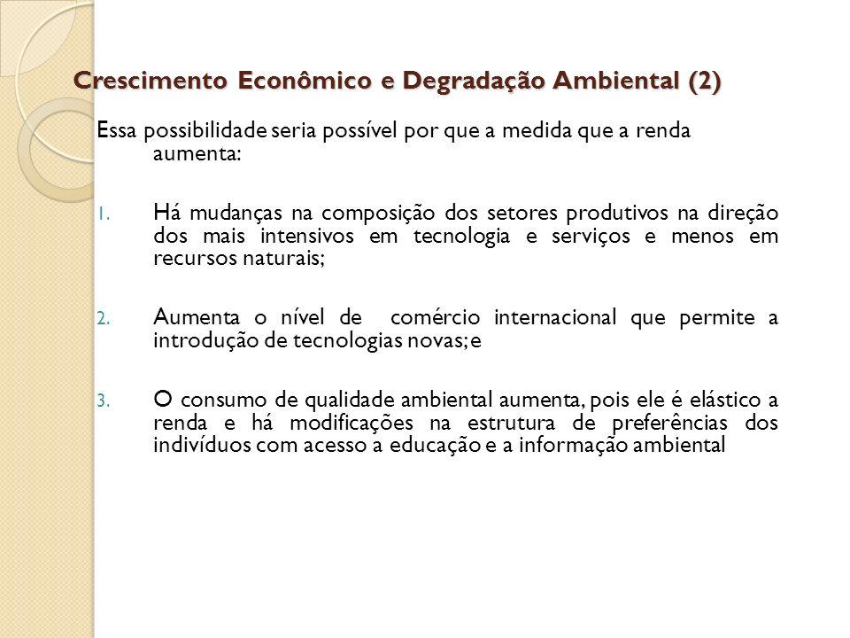 Crescimento Econômico e Degradação Ambiental (2)