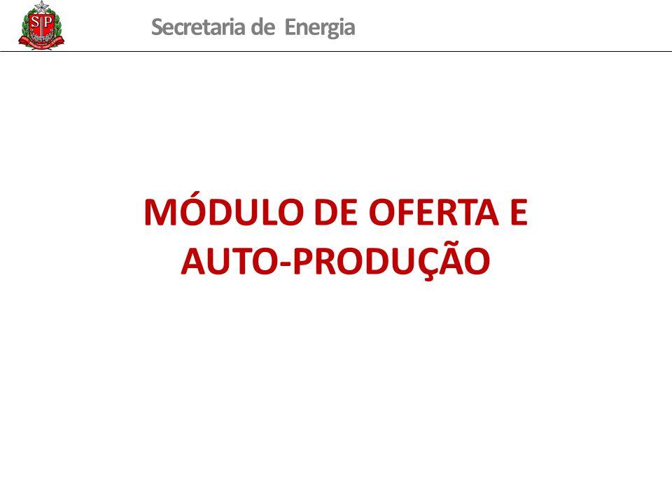 MÓDULO DE OFERTA E AUTO-PRODUÇÃO