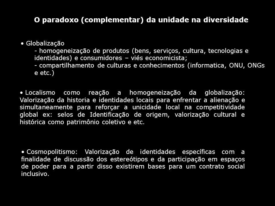O paradoxo (complementar) da unidade na diversidade