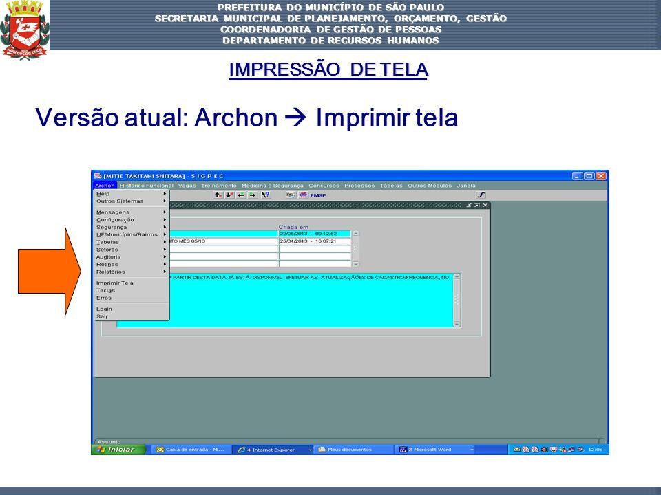Versão atual: Archon  Imprimir tela