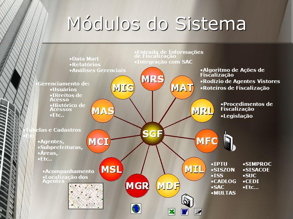 Módulos do Sistema Entrada de Informações de Fiscalização