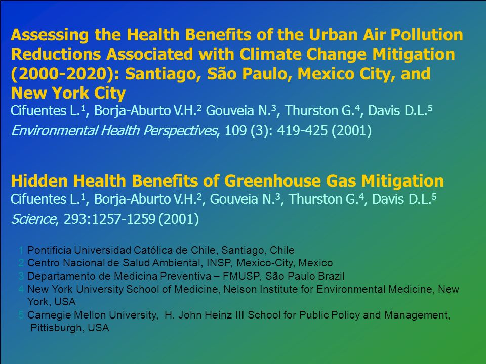 Hidden Health Benefits of Greenhouse Gas Mitigation