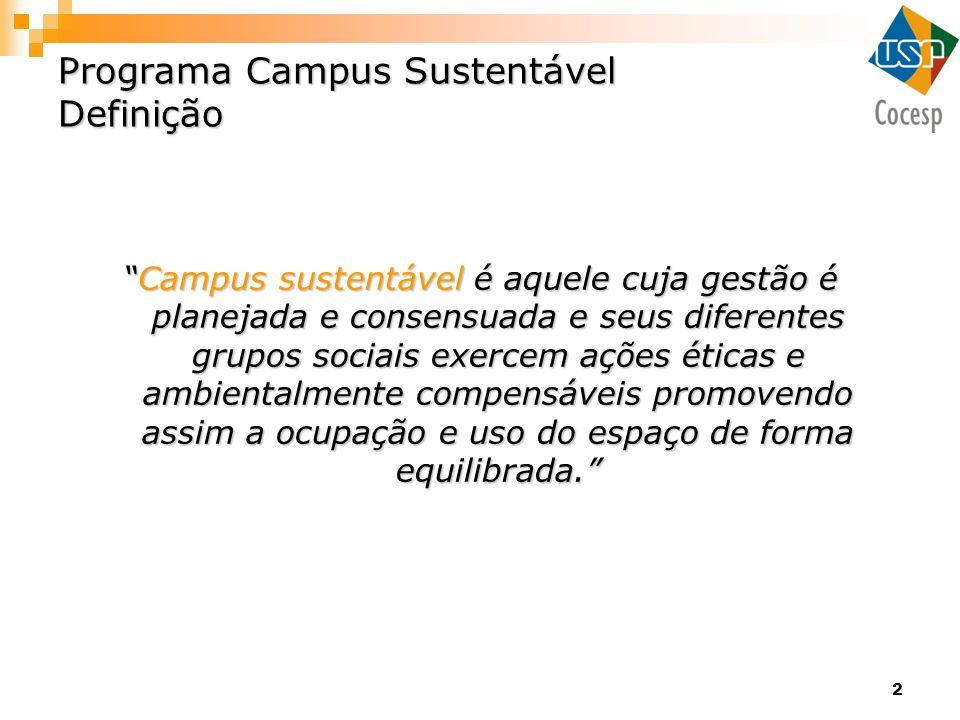 Programa Campus Sustentável Definição