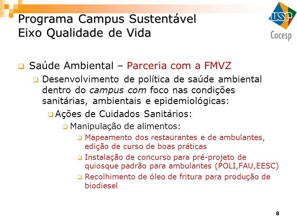 Programa Campus Sustentável Eixo Qualidade de Vida