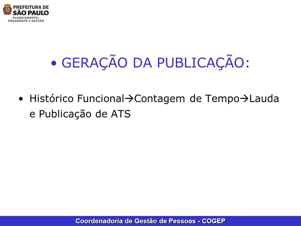 GERAÇÃO DA PUBLICAÇÃO:
