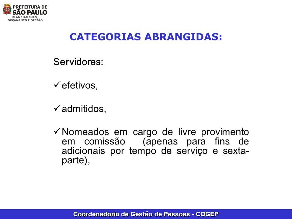 CATEGORIAS ABRANGIDAS: