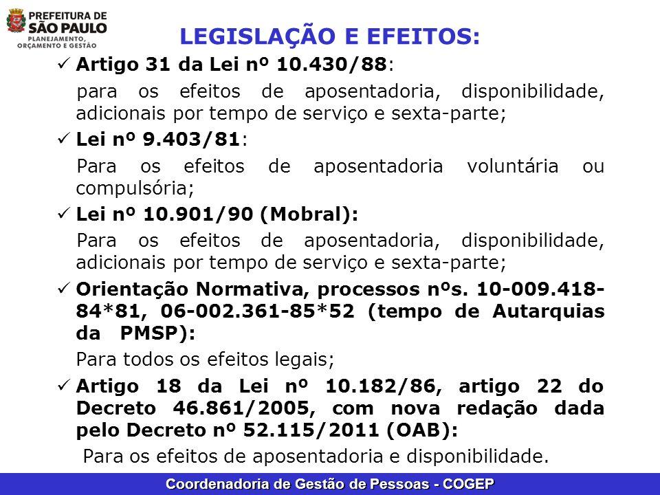 LEGISLAÇÃO E EFEITOS: Artigo 31 da Lei nº 10.430/88: