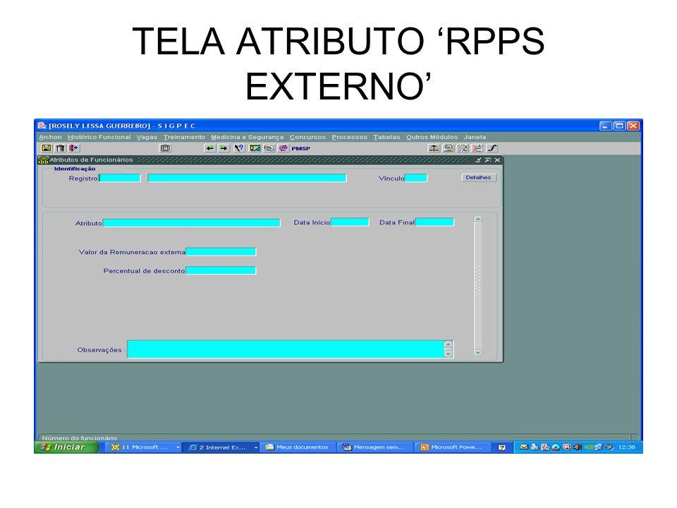 TELA ATRIBUTO 'RPPS EXTERNO'