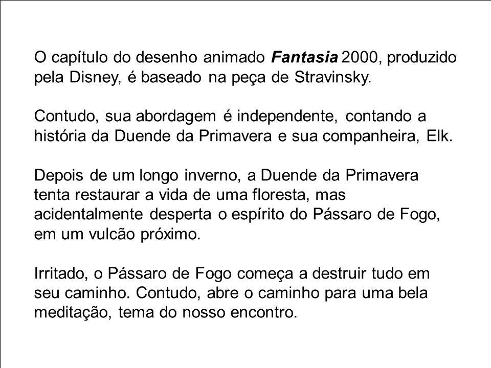 O capítulo do desenho animado Fantasia 2000, produzido pela Disney, é baseado na peça de Stravinsky.