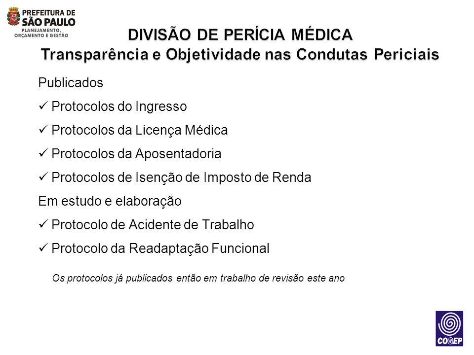Os protocolos já publicados então em trabalho de revisão este ano