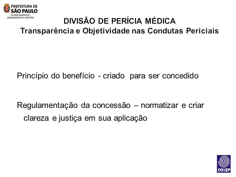 DIVISÃO DE PERÍCIA MÉDICA Transparência e Objetividade nas Condutas Periciais
