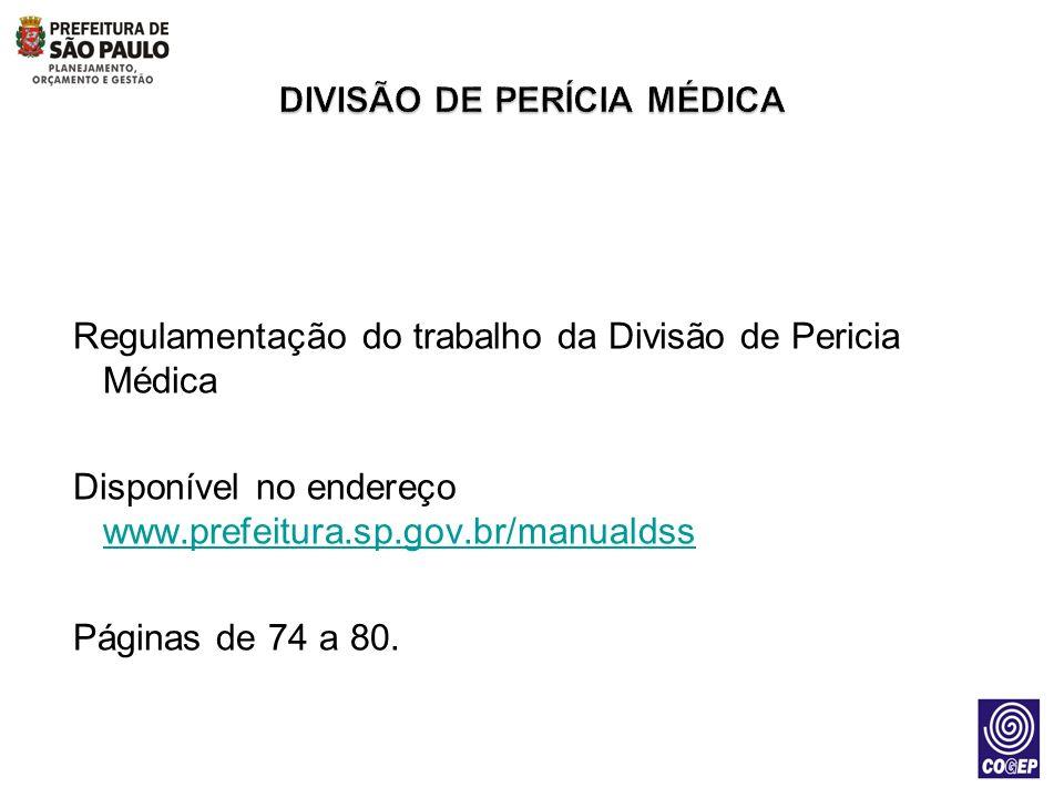 DIVISÃO DE PERÍCIA MÉDICA