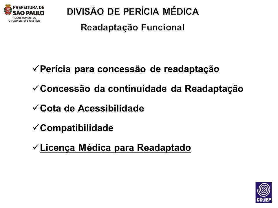 DIVISÃO DE PERÍCIA MÉDICA Readaptação Funcional