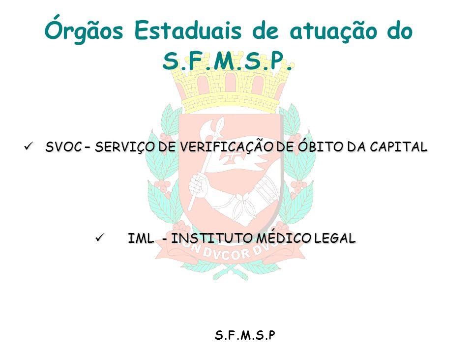 Órgãos Estaduais de atuação do S.F.M.S.P.