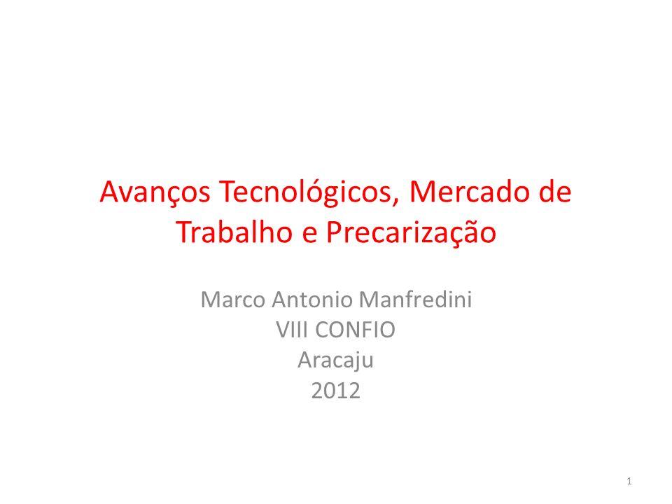Avanços Tecnológicos, Mercado de Trabalho e Precarização