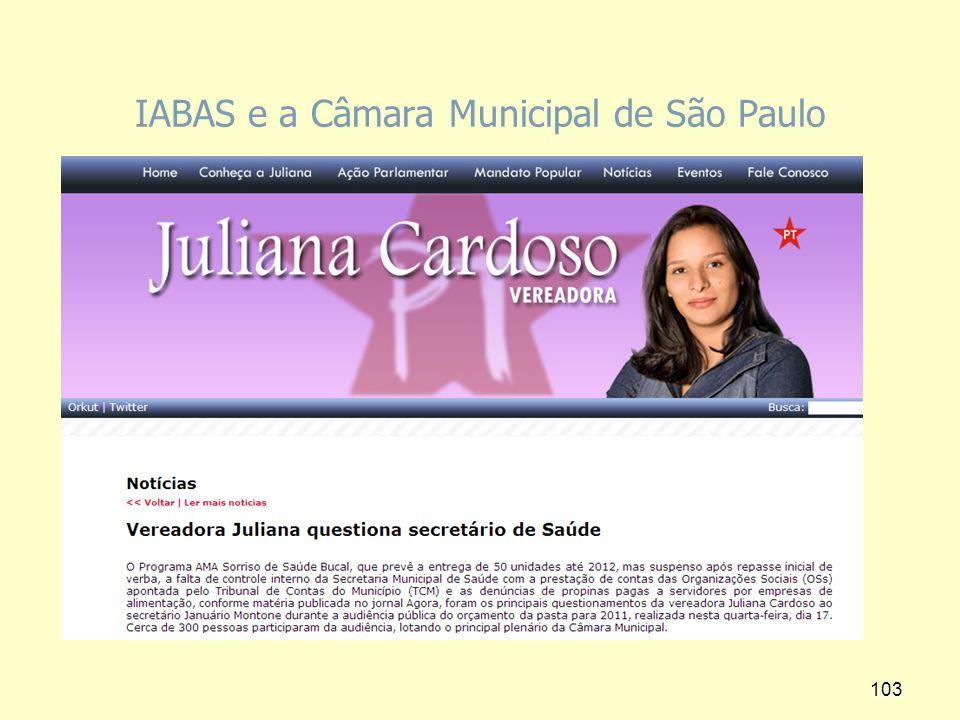 IABAS e a Câmara Municipal de São Paulo
