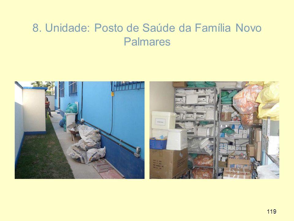 8. Unidade: Posto de Saúde da Família Novo Palmares