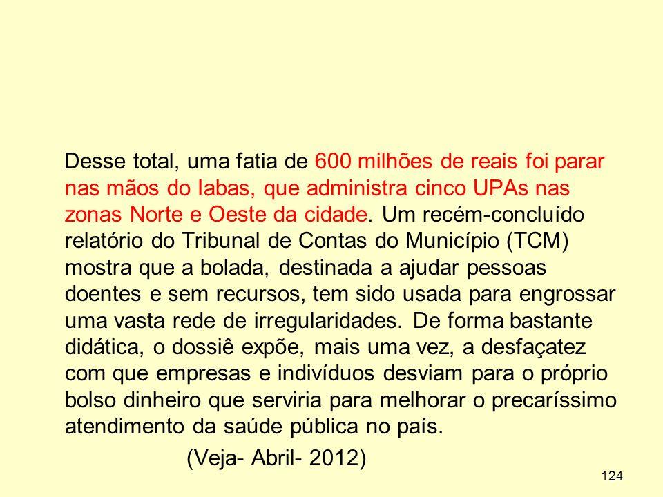 Desse total, uma fatia de 600 milhões de reais foi parar nas mãos do Iabas, que administra cinco UPAs nas zonas Norte e Oeste da cidade.