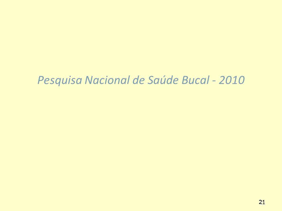 Pesquisa Nacional de Saúde Bucal - 2010