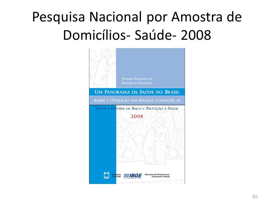 Pesquisa Nacional por Amostra de Domicílios- Saúde- 2008