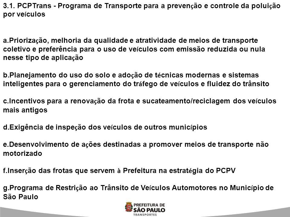 3.1. PCPTrans - Programa de Transporte para a prevenção e controle da poluição por veículos