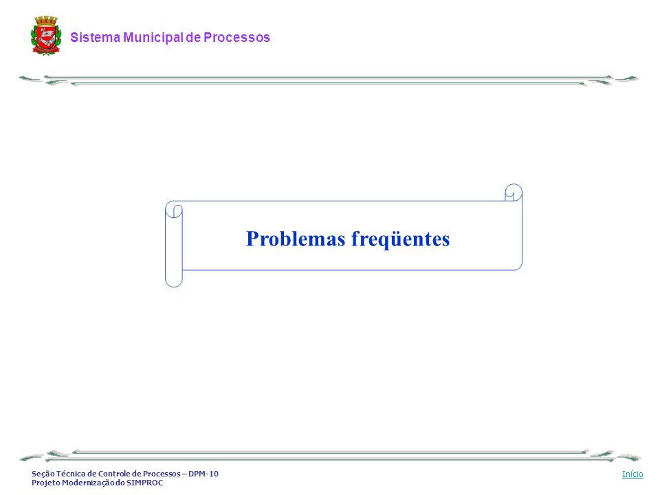 Problemas freqüentes
