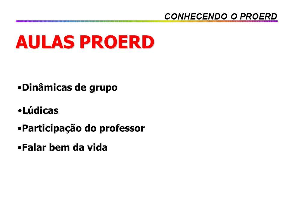 AULAS PROERD Dinâmicas de grupo Lúdicas Participação do professor