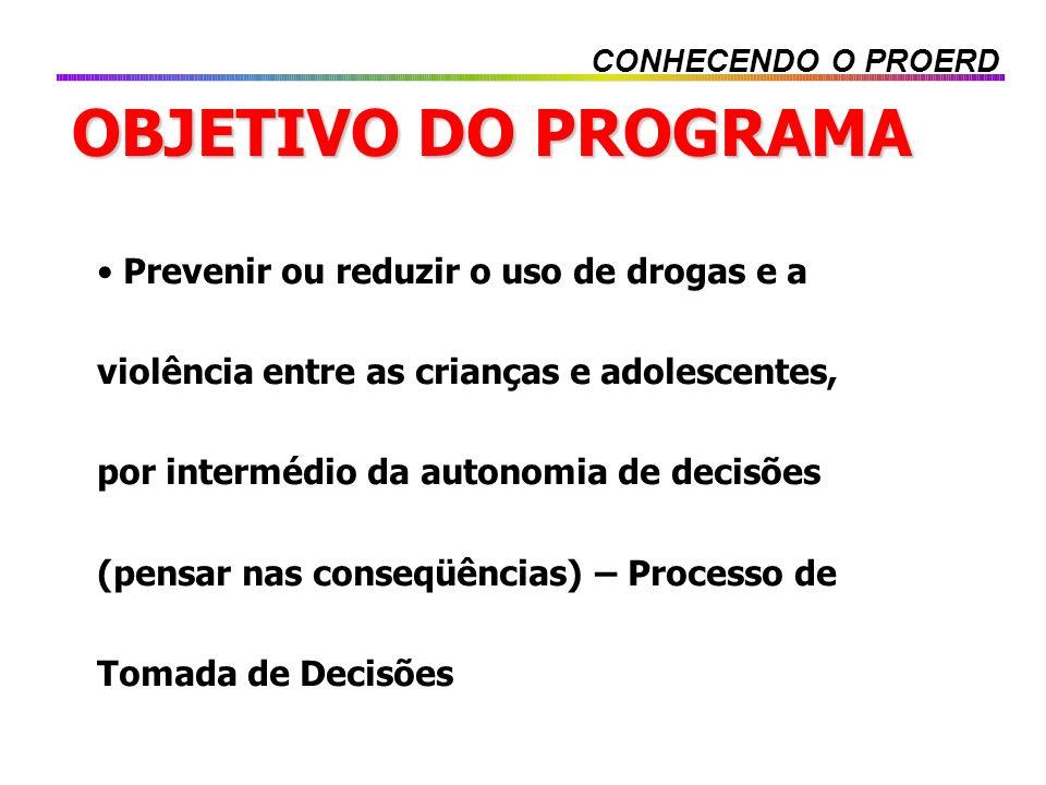 CONHECENDO O PROERD OBJETIVO DO PROGRAMA.