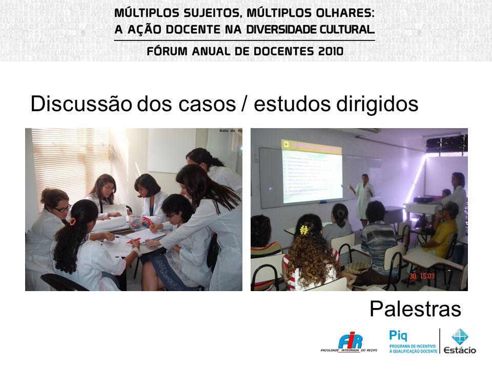 Discussão dos casos / estudos dirigidos
