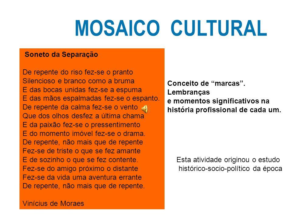 MOSAICO CULTURAL Soneto da Separação
