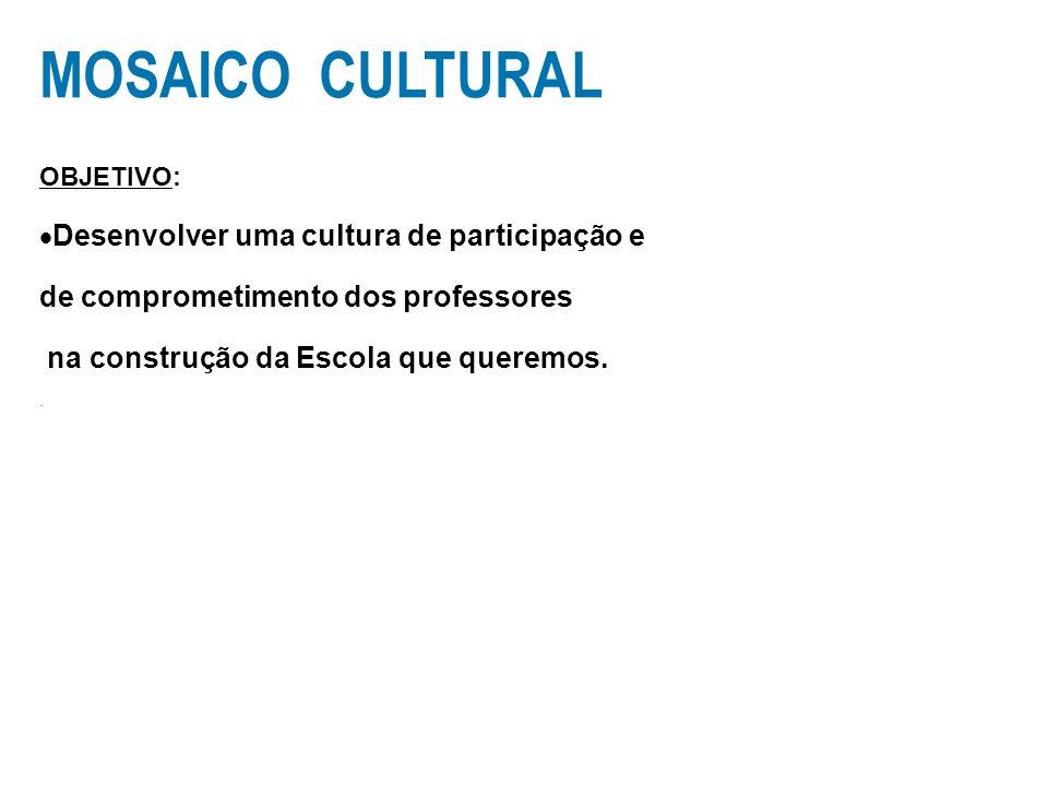 MOSAICO CULTURAL Desenvolver uma cultura de participação e