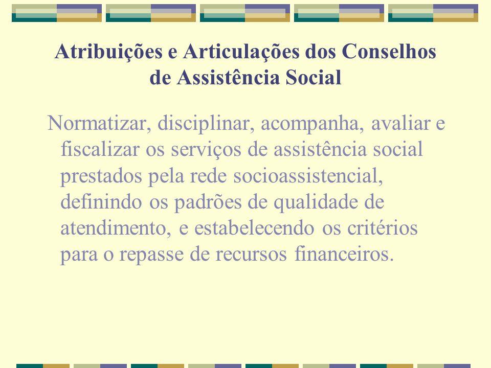Atribuições e Articulações dos Conselhos de Assistência Social