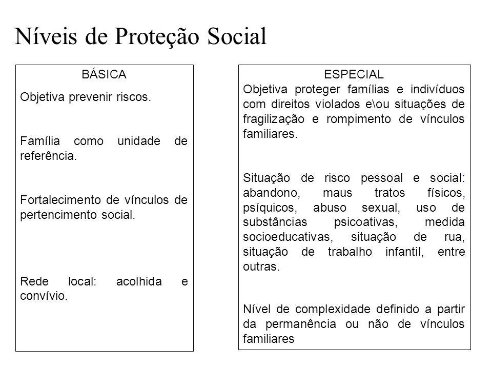 Níveis de Proteção Social