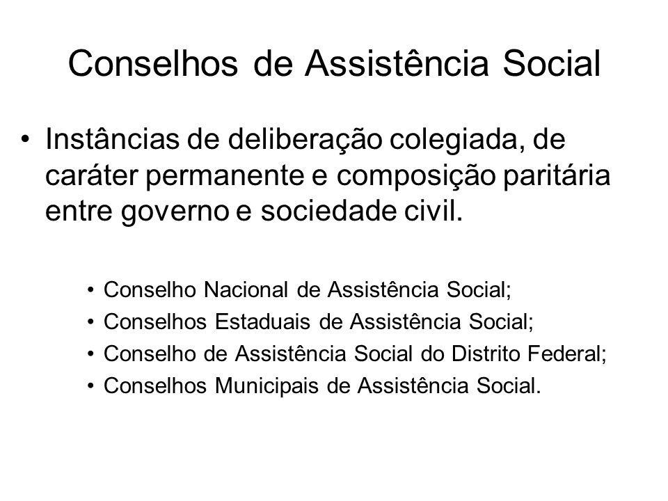Conselhos de Assistência Social