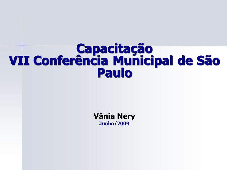 Capacitação VII Conferência Municipal de São Paulo