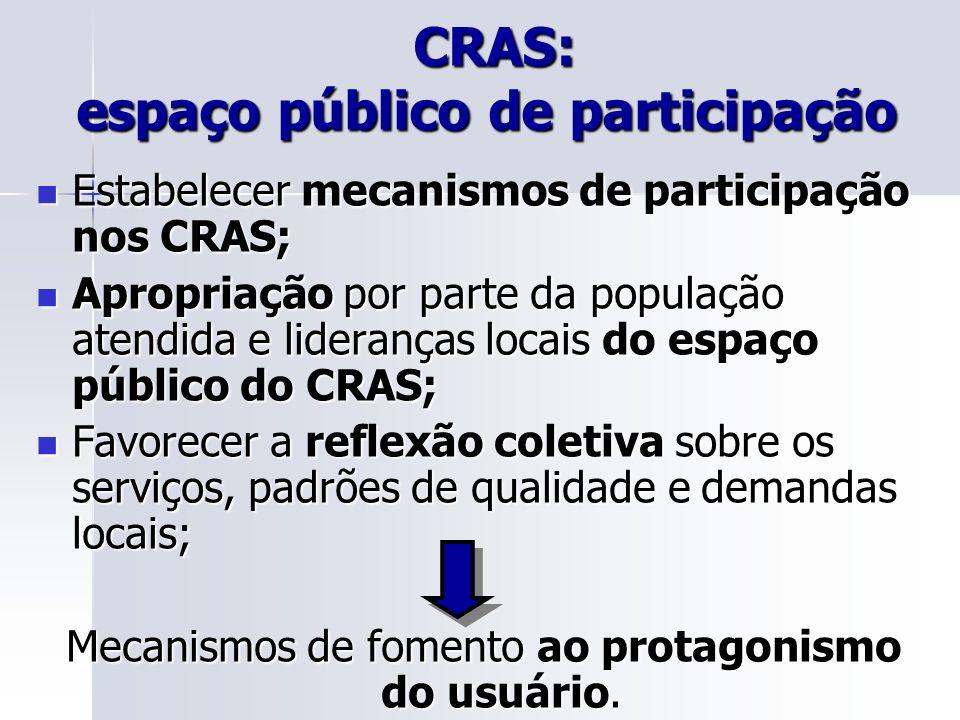 CRAS: espaço público de participação