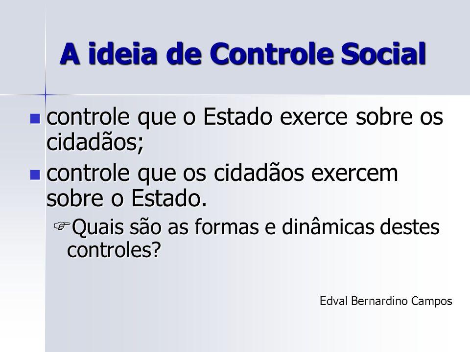 A ideia de Controle Social