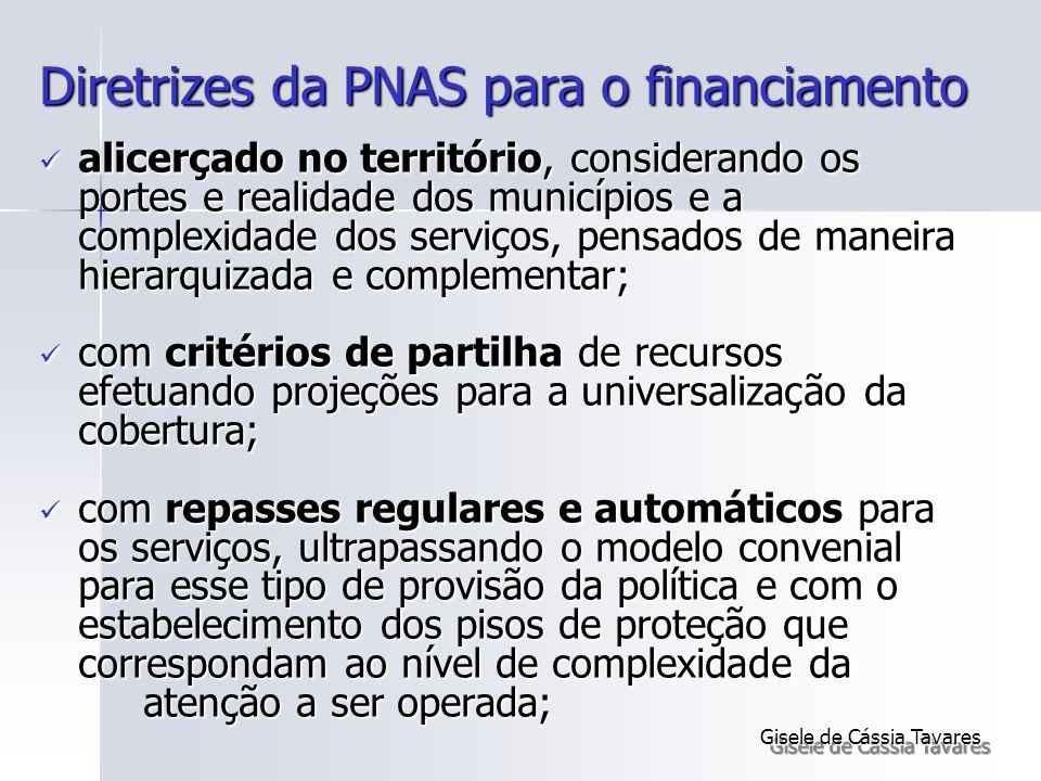 Diretrizes da PNAS para o financiamento