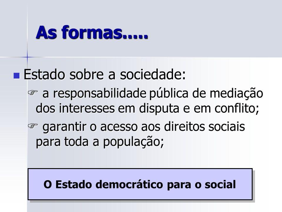 O Estado democrático para o social