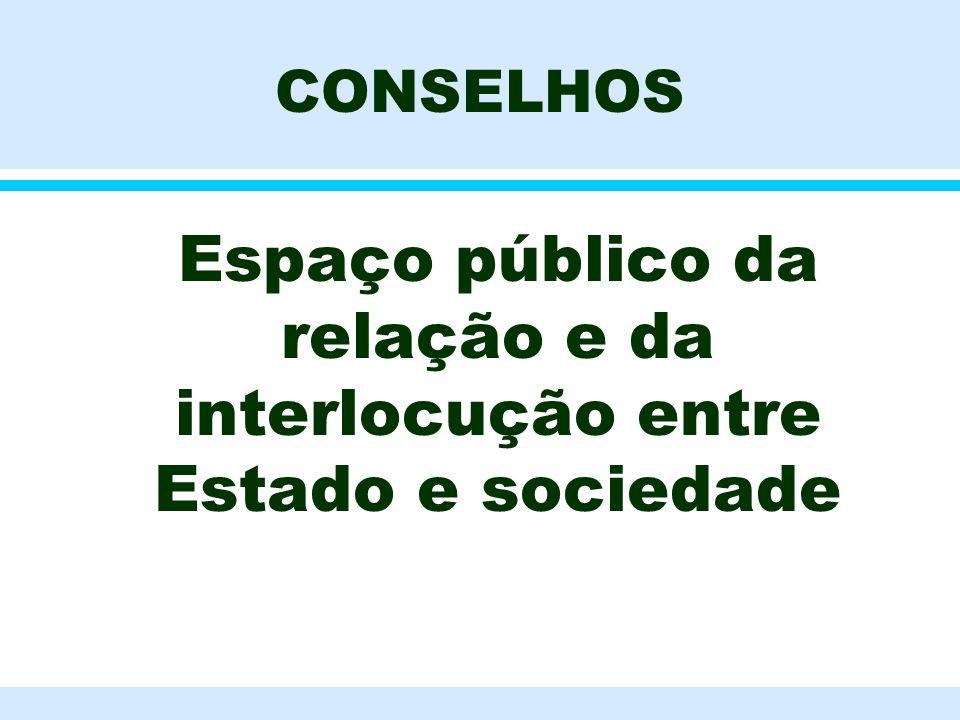 Espaço público da relação e da interlocução entre Estado e sociedade