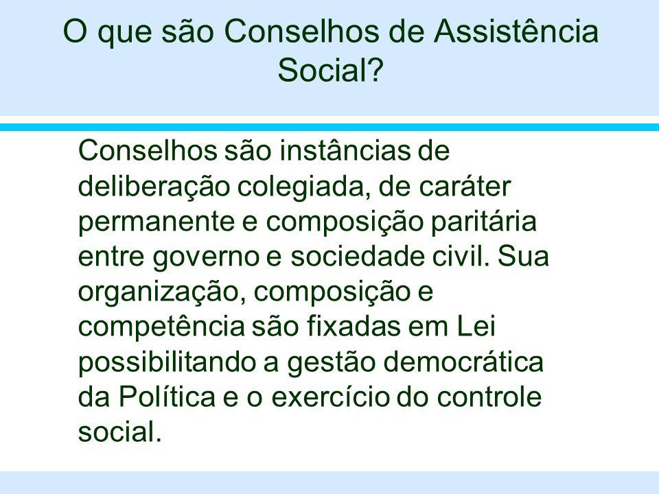 O que são Conselhos de Assistência Social