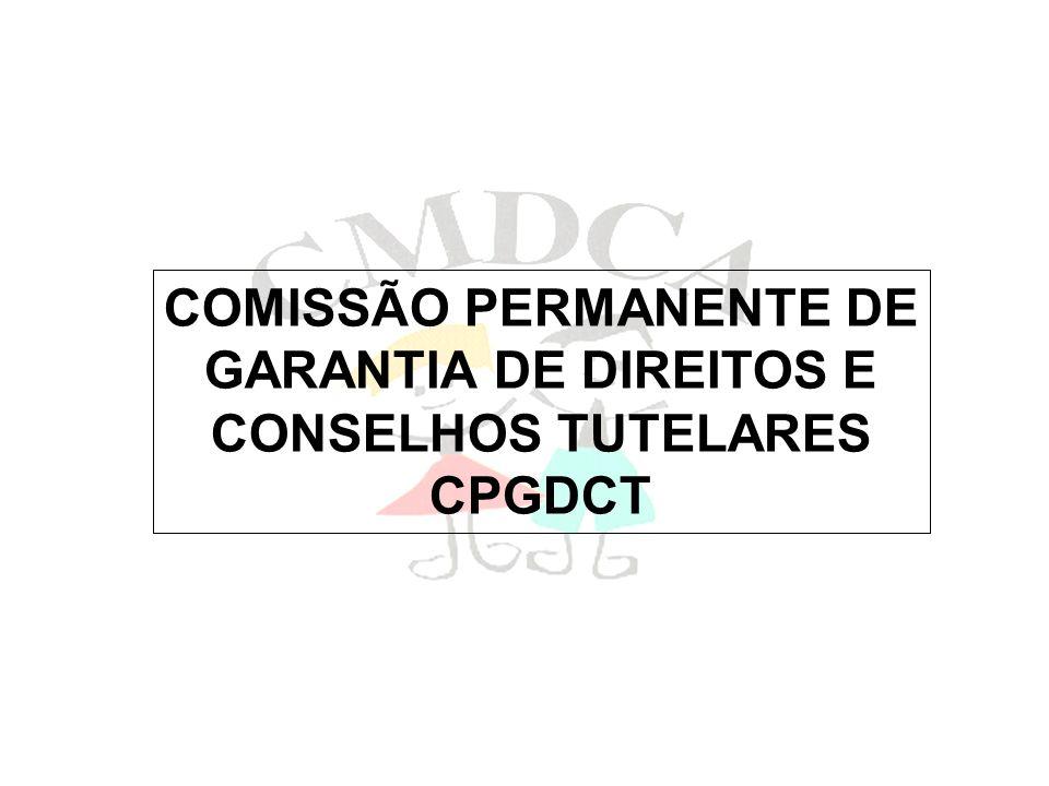 COMISSÃO PERMANENTE DE GARANTIA DE DIREITOS E CONSELHOS TUTELARES