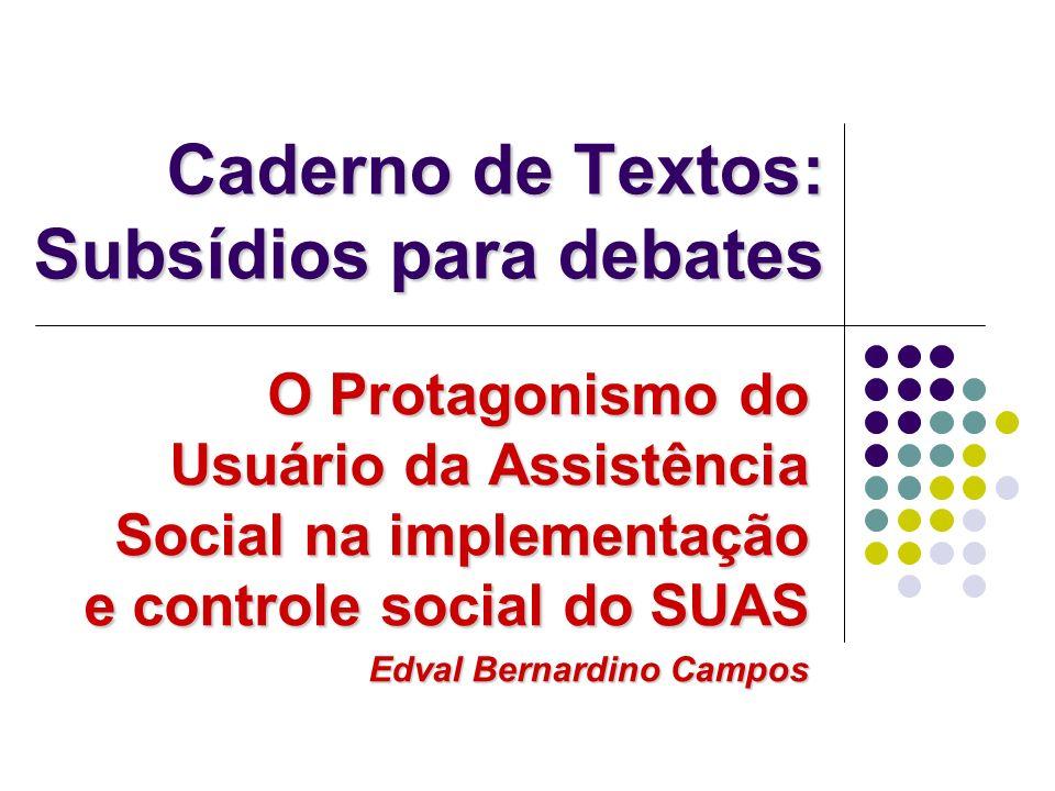 Caderno de Textos: Subsídios para debates