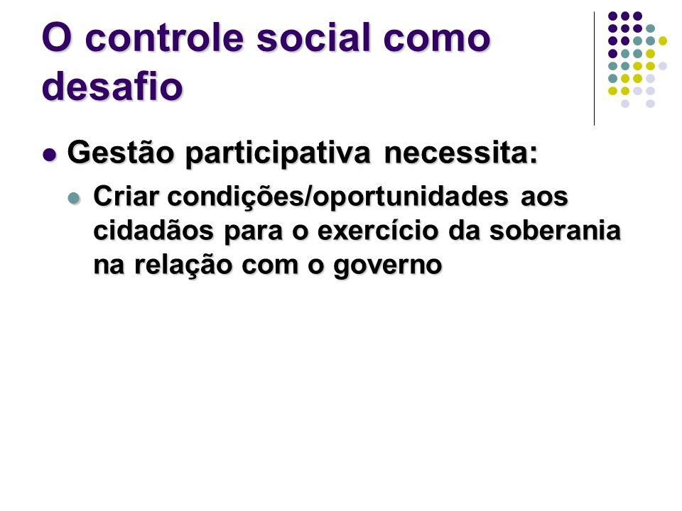 O controle social como desafio