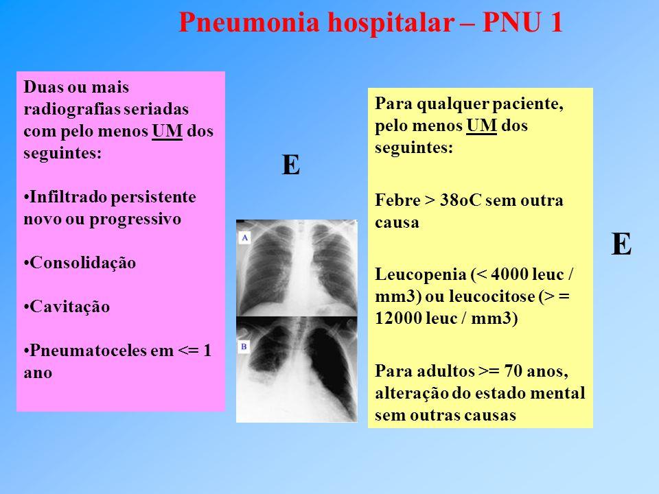 Pneumonia hospitalar – PNU 1