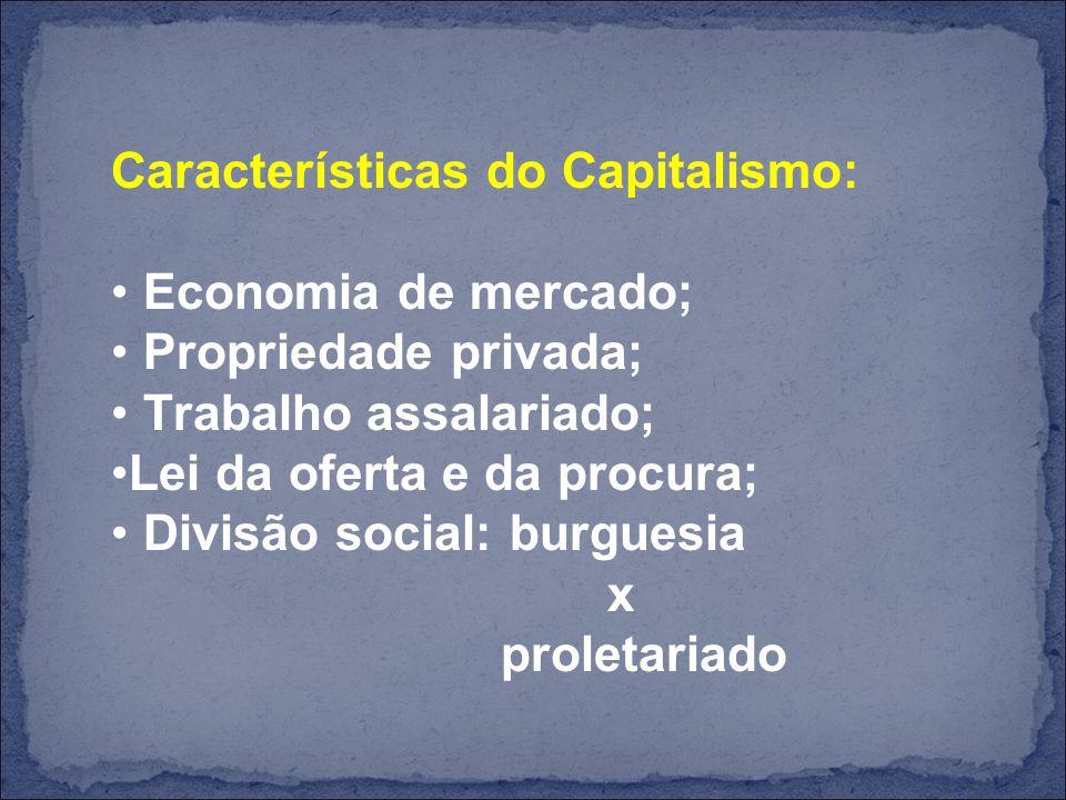 Características do Capitalismo: