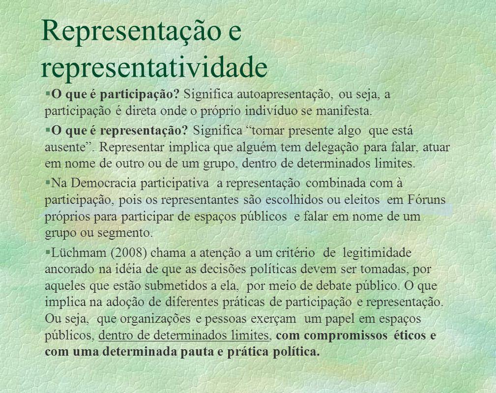Representação e representatividade