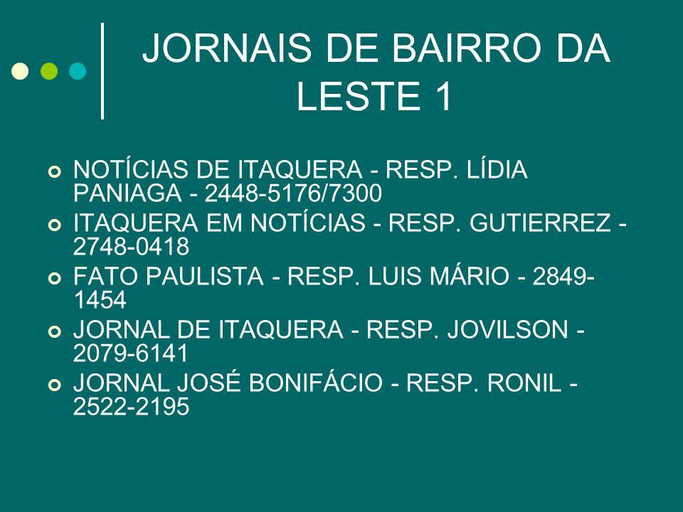 JORNAIS DE BAIRRO DA LESTE 1