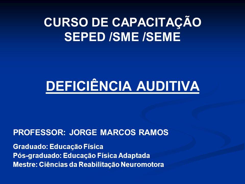 CURSO DE CAPACITAÇÃO SEPED /SME /SEME