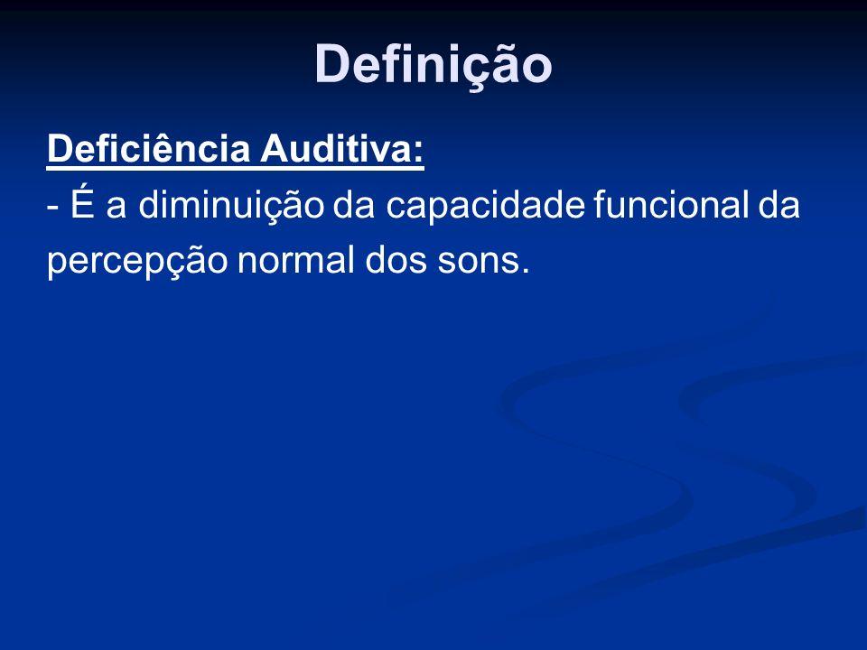 Definição Deficiência Auditiva: